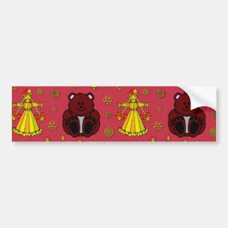 Toys – Golden Dolls & Chocolate Teddy Bears Car Bumper Sticker