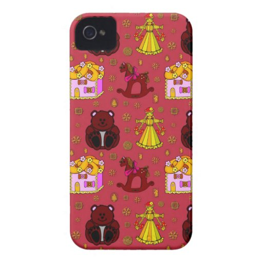 Toys – Golden Dolls & Chocolate Teddy Bears Case-Mate iPhone 4 Case