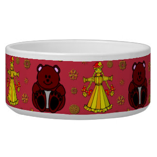 Toys – Golden Dolls & Chocolate Teddy Bears Dog Food Bowls