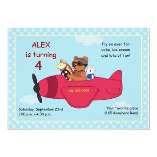Toys in a Plane Birthday Invitation