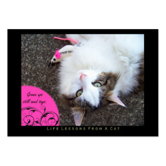 Toys Life Lessons From a Cat ACEO Art Trading Card Business Card