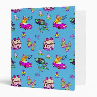 Toys – Pink Dollhouses & Turquoise Kites 3 Ring Binder