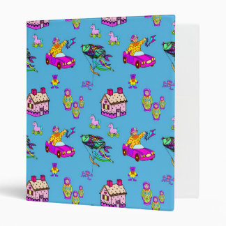 Toys – Pink Dollhouses & Turquoise Kites Vinyl Binder