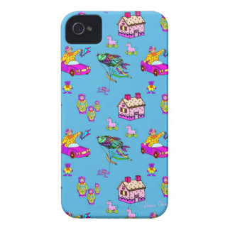 Toys – Pink Dollhouses & Turquoise Kites Case-Mate iPhone 4 Case