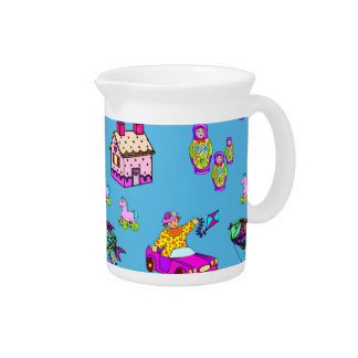 Toys – Pink Dollhouses & Turquoise Kites Drink Pitcher