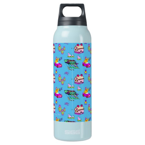 Toys – Pink Dollhouses &amp&#x3B; Turquoise Kites Insulated Water Bottle
