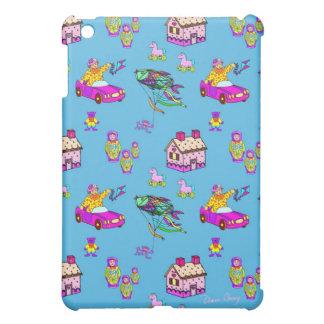Toys – Pink Dollhouses & Turquoise Kites iPad Mini Case