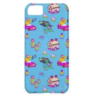 Toys – Pink Dollhouses & Turquoise Kites iPhone 5C Case