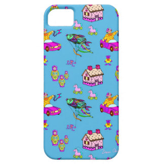 Toys – Pink Dollhouses & Turquoise Kites iPhone SE/5/5s Case
