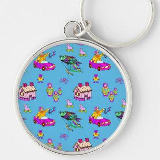 Toys – Pink Dollhouses & Turquoise Kites Keychain