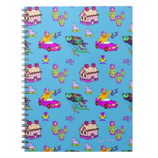 Toys – Pink Dollhouses & Turquoise Kites Note Book