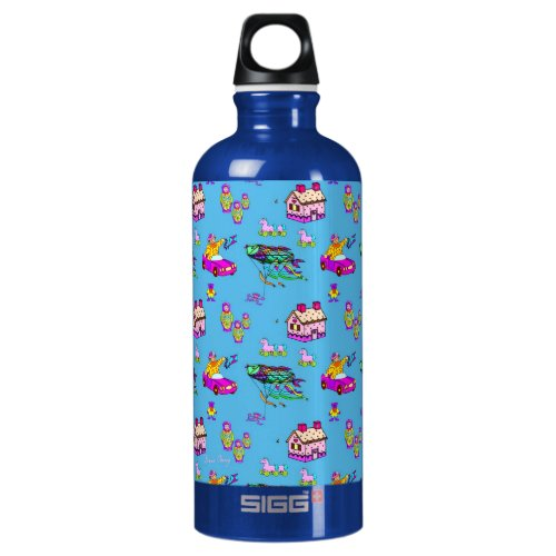 Toys – Pink Dollhouses & Turquoise Kites Water Bottle