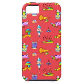 Toys – Purple Drums and Golden Horns iPhone 5 Cover