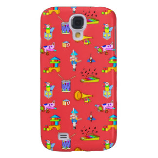Toys – Purple Drums and Golden Horns Samsung Galaxy S4 Cover