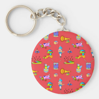 Toys – Purple Drums and Golden Horns Keychain