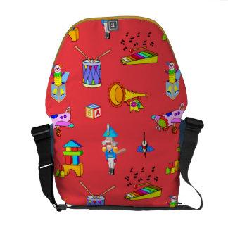 Toys – Purple Drums and Golden Horns Messenger Bag