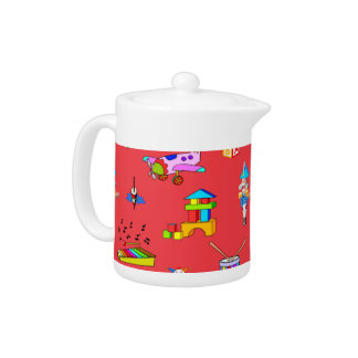 Toys – Purple Drums and Golden Horns Teapot