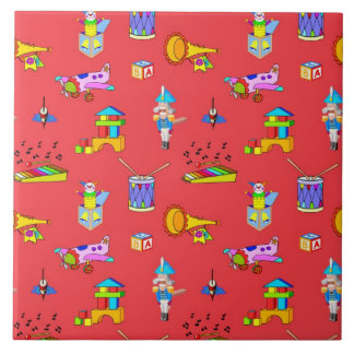 Toys – Purple Drums and Golden Horns Tile