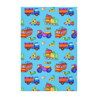 Toys - Red Trucks & Orange Trains Gallery Wrap Canvas