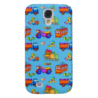Toys - Red Trucks & Orange Trains Galaxy S4 Cover