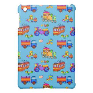 Toys - Red Trucks & Orange Trains Case For The iPad Mini
