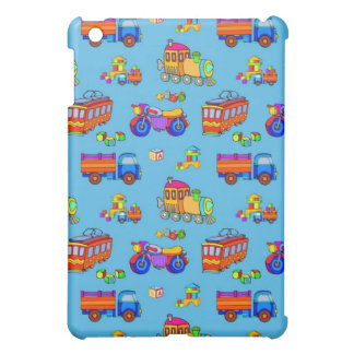 Toys - Red Trucks & Orange Trains iPad Mini Covers