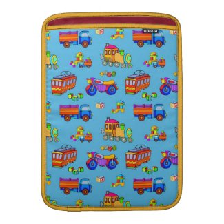 Toys - Red Trucks & Orange Trains MacBook Air Sleeves