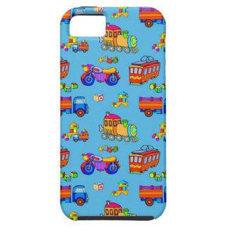 Toys - Red Trucks & Orange Trains iPhone SE/5/5s Case