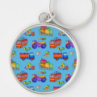 Toys - Red Trucks & Orange Trains Keychain
