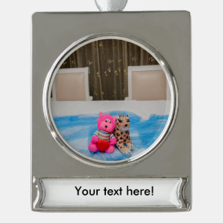 Toys Silver Plated Banner Ornament