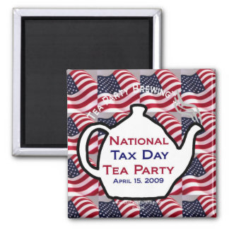 TP0100 National Tax Day Tea Party Magnet