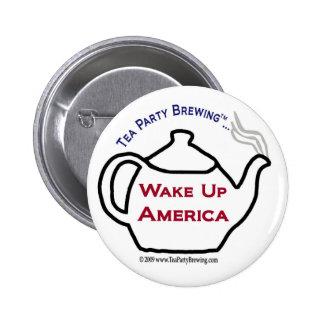 TP0101 despiertan el botón de América Pin Redondo De 2 Pulgadas