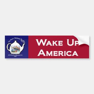 TP0101 Tea Party Wake Up America Bumper Sticker