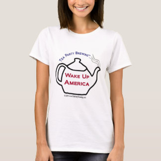 TP0101 Tea Party Wake Up America Women's  shirt