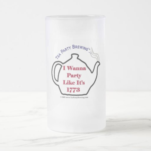 TP0102 Party Like It's 1773 Frosted Beer  Mug