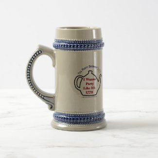 TP0102 Tea Party Like It's 1773 Beer Stein mug