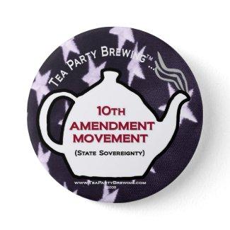TP0109 Tea Party 10th Amendment Movement Button button