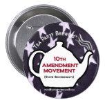 TP0109 Tea Party 10th Amendment Movement Button