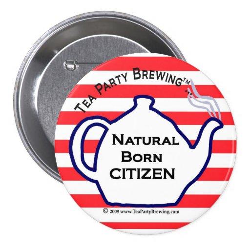 TP0110 Tea Party Natural Born Citizen Button | Zazzle