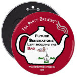 TP0111 Future Generations Left Holding Bag Button