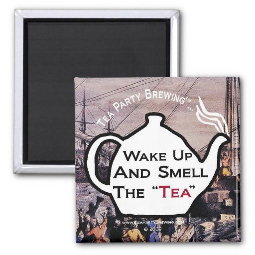 TP0112 Wake Up Smell Tea Magnet