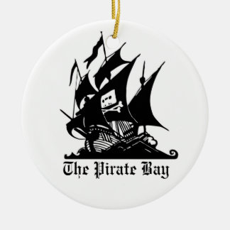 tpblogobig, el ornamint de la bahía del pirata adorno redondo de cerámica