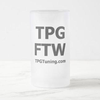 TPG FTW - TPGTuning.com - Beer Glass 16 Oz Frosted Glass Beer Mug