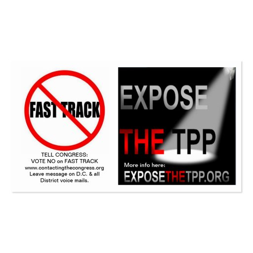TPP and Fast Track Business Info Cards with Links Business