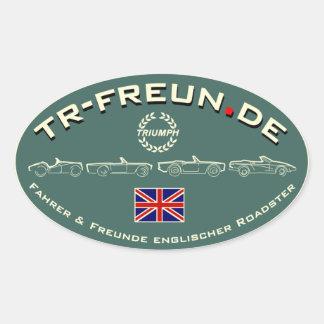 TR-Freun.de pegatina Oval
