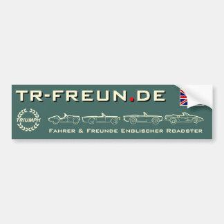 TR-friends stickers rectangular largely Car Bumper Sticker