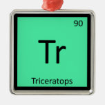 Tr - Tabla periódica de la química del dinosaurio Ornamento De Navidad