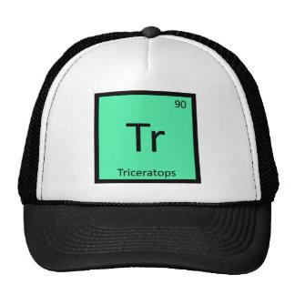Tr - Triceratops Dinosaur Chemistry Periodic Table Trucker Hat
