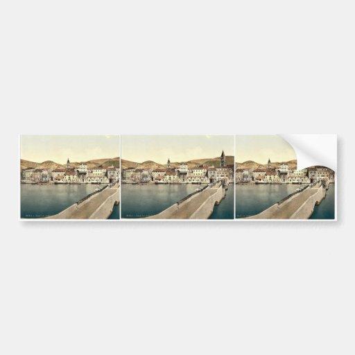 Traû , el puente de Ciero, Dalmacia, Austro- Etiqueta De Parachoque