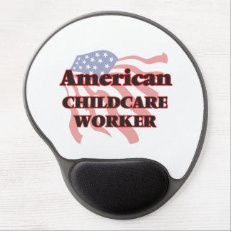 Trabajador americano del cuidado de niños alfombrilla de ratón con gel